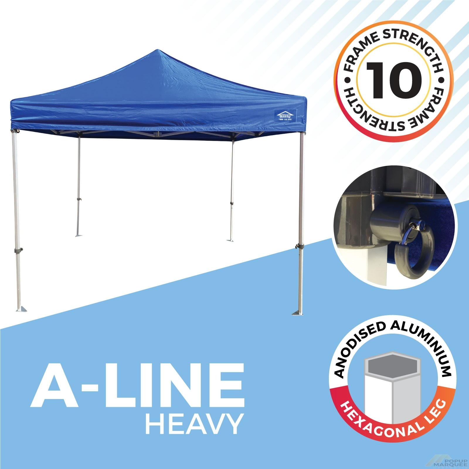 """""""A-Line"""" Popup Marquee"""