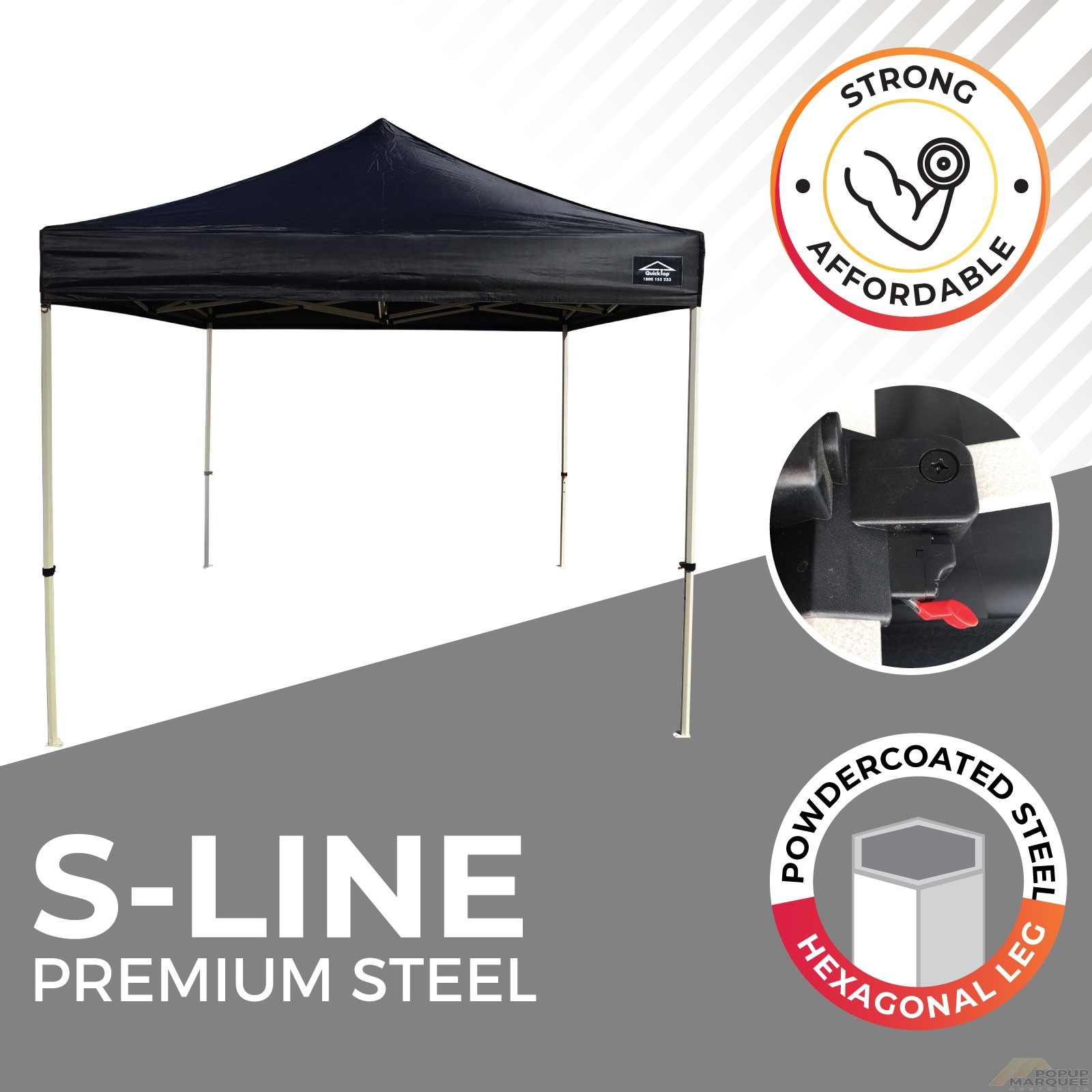S-Line Premium Steel Popup Marquee