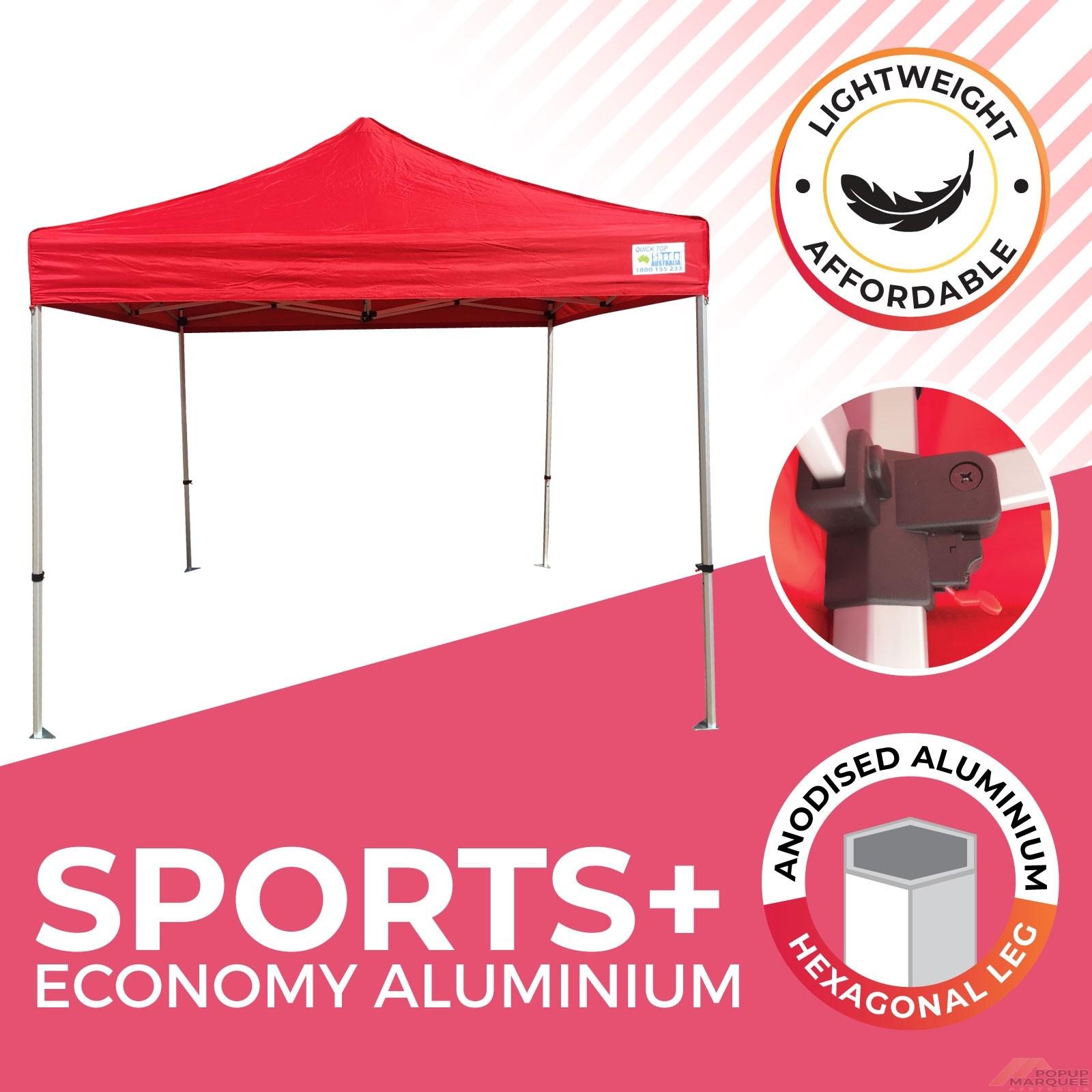 Sports Plus Economy Aluminium Popup Marquee