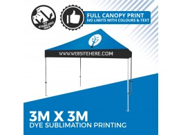 3m x 3m Printed Marquee