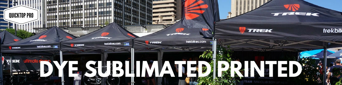 Popup Tent Dye Sublimated Printed